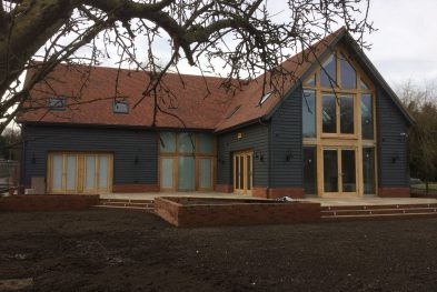 New Build Oak Frame House with SIPs in Buckinghamshire